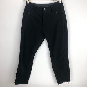 REI Womens Small 10 Petite Black Ankle Zip Pants